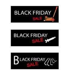 Car Jack and Repair Tools Kits on Black Friday vector image