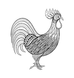 Rooster Chicken domestic farmer Bird for vector image