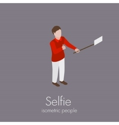 man making selfie vector image
