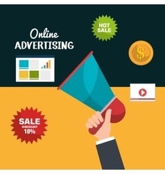 Online advertising design vector