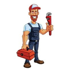 Plumber cartoon mascot vector