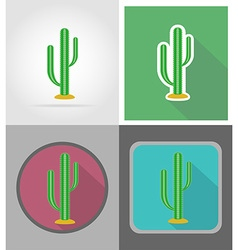 Wild west flat icons 16 vector