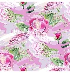 Abstract camellia pattern vector
