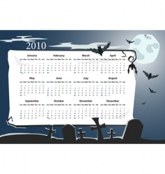 american halloween calendar vector image vector image