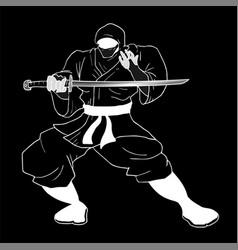 art ninja vector image