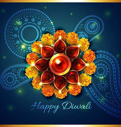 Artistic background of diwali vector