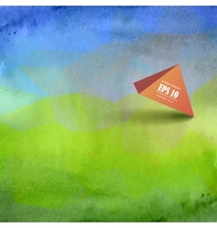 Beautiful grunge background sky and green grass vector image vector image