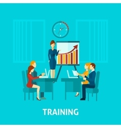 Business training flat icon vector