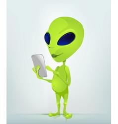 Cartoon Character ALIEN 034 CS5 vector image vector image
