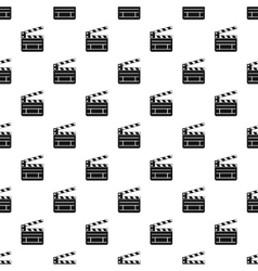 Clapperboard pattern simple style vector image