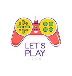 Colorful joystick logo gamepad creative vector