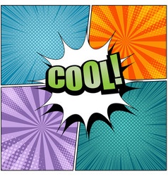 Comic cool wording template vector