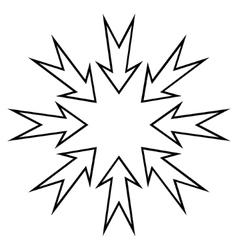 Compress arrows stroke icon vector