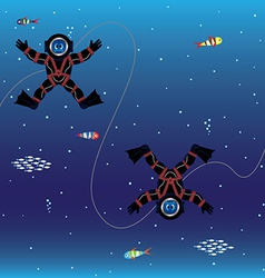 Divers seamless pattern vector image