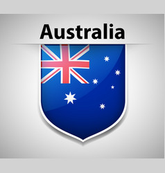 Flag icon design for australia vector