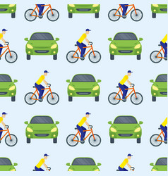 flat car vehicle type design sedan seamless vector image vector image