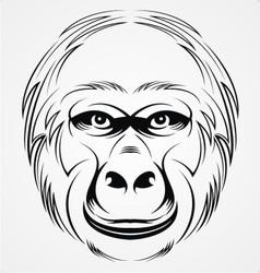 Gorilla head vector