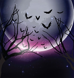 Halloween night sky background vector image vector image