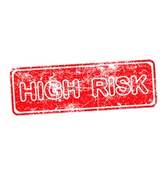 High risk red grunge rubber stamp vector