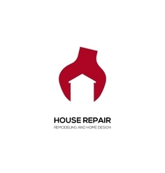 House Building Real Estate Symbol vector image