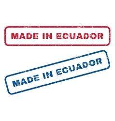Made in ecuador rubber stamps vector