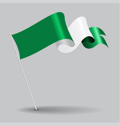 nigerian pin wavy flag vector image vector image