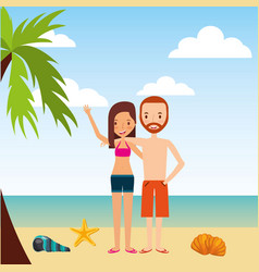 person on vacations holidays vector image