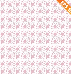 Pink lacy seamless pattern with polka dots vector image