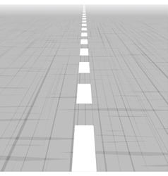 Road template with perspective vector
