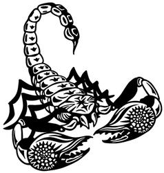 scorpion black white vector image vector image
