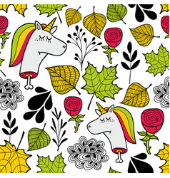 Seamless sad pattern in autumn colors vector