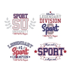 Sport badge set vector