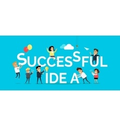 Successful Idea Banner Flat Design vector image vector image