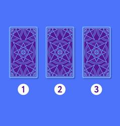 three card tarot spread reverse side vector image vector image