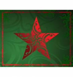 tribal decorative star vector image vector image