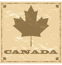 Vintage Canadian maple leaf vector image vector image