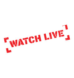 watch live rubber stamp vector image