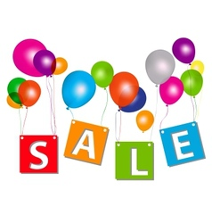 Balloons with sale letters  concept of discount vector