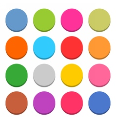 Flat blank web icon color round button vector