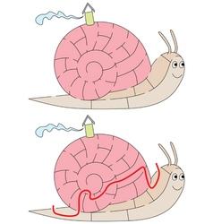 Easy snail maze vector image