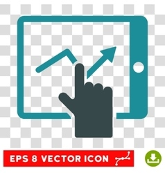 Tap trend on pda icon vector