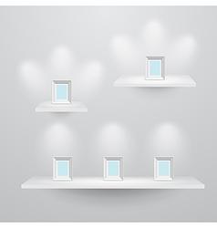 shelf3sizes vector image