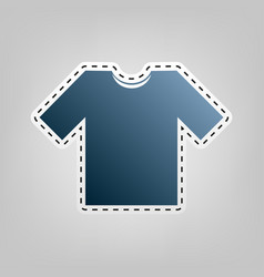 T-shirt sign   blue icon with vector