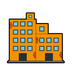 Factory building icon image vector