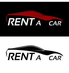 Rent a car logo vector