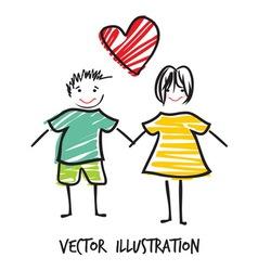 handdraw familija8 vector image