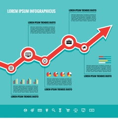 Business graphic up-trend - vector