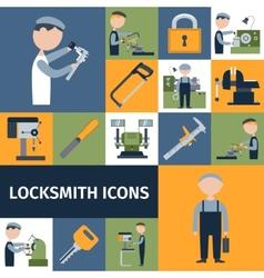 Locksmith icons set vector