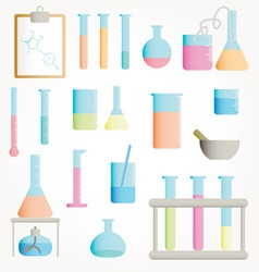 chemical test tubes vector vector image