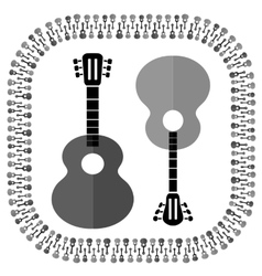 Guitars silhouettes isolated vector